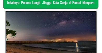 Indahnya Pesona Langit Jingga Kala Senja di Pantai Monpera